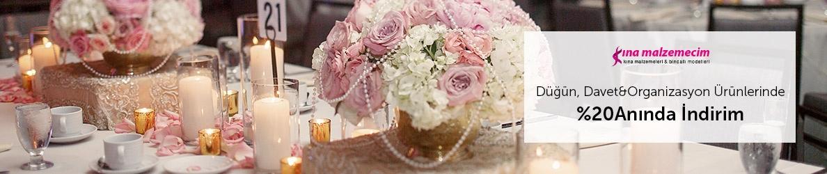 Düğün, Davet&Organizasyon Ürünlerinde Anında %20 İndirim