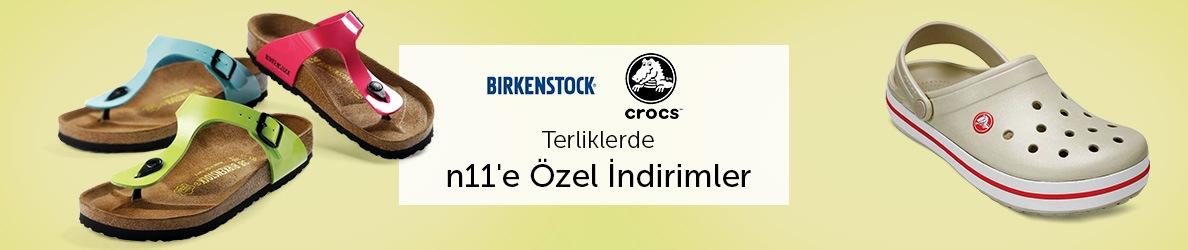 Birkenstock ve Crocs Terliklerde n11'e Özel İndirimler