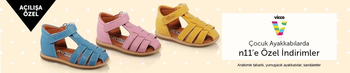 Vicco Çocuk Ayakkabılarda n11.com'a Özel İndirimler
