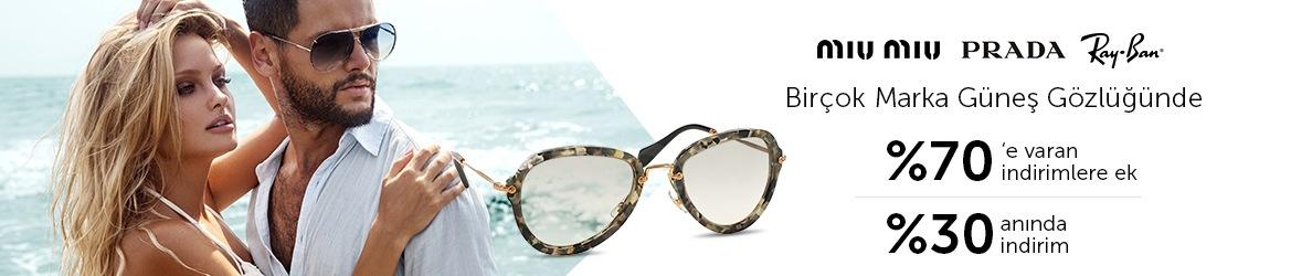 Moda Marka Güneş Gözlüklerinde %30 Anında İndirim