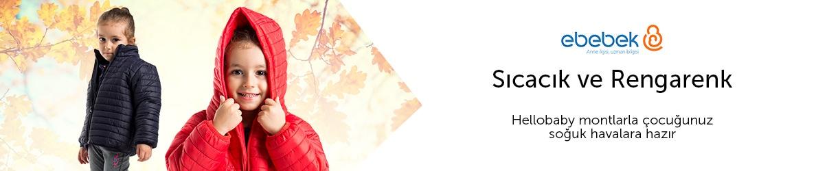 Sıcacık Rengarenk Hellobaby Montlarla Çocuğunuz Sonbahara Hazır