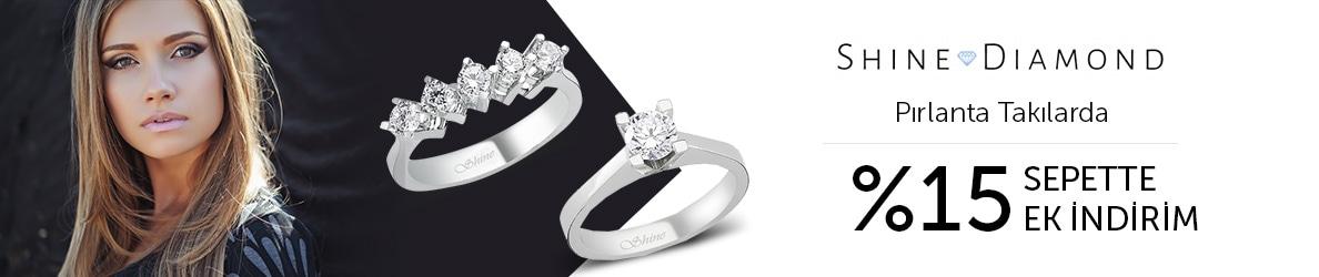 Shine Diamond Takılarda %15 Sepette Ek İndirim