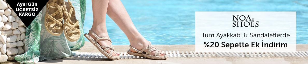 NoaShoes Tüm Ayakkabı & Sandaletlerde %20 Sepette Ek İndirim