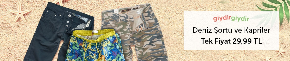 Giydir Giydir Kapri Şortlar Tek Fiyat 29,99 TL