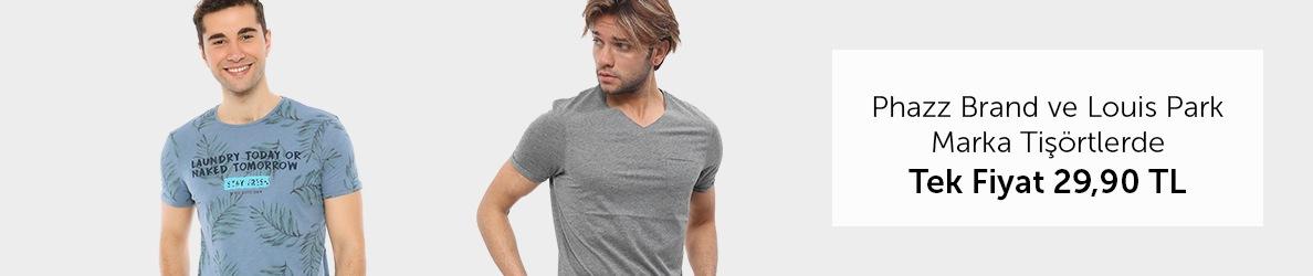 Phazz Brand + Louis Park Tişörtlerde Tek Fiyat 29,90 TL
