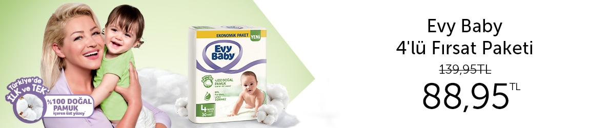 Evy Baby Bebek Bezi 4'lü Fırsat