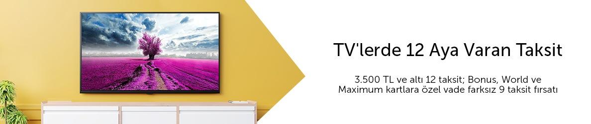 Televizyonlarda 12 Aya Varan Taksit Fırsatları