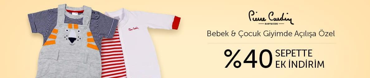 Pierre Cardin Bebek ve Çocuk Ürünlerinde Sepette İndirim