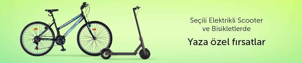 Seçili Elektrikli Scooter ve Bisikletlerde Yaza Özel Fırsatlar