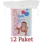 İpek Maxi Bebek Temizleme Pamuğu 60'lı / 12 Paket SKT:2023