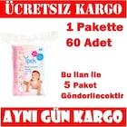 İpek Maxi Bebek Temizleme Pamuğu 60'lı / 5 Paket SKT:2023