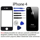 iphone 4 / 4s ön ekran camı + arka kapak + montaj takımı