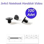3x4x5 Notebook Harddisk Vidası Siyah 100 Adet