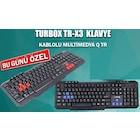 Turbox TR-X3R Multimedia Oyuncu Gaming Klavye
