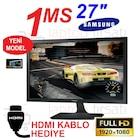 "YENİ MODEL !! Samsung LS27E330HZX 27"" 1ms Full HD + HDMI KABLO"