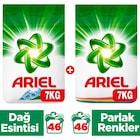 Ariel Toz Çamaşır Deterjanı 7 Kg Dağ Esintisi + 7 Kg Parlak Renkl