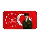 Atatürk Bombeli Cam Duvar Saati