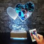 Sevgililer Günü Hediyesi 16 Renk Resimli Gece Lambası Hediye