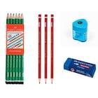Faber Castell 12 Li Kurşun Kalem+ 3 Kırmızı Kalem+ Silgi+ Kalemtr