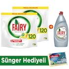 Fairy Hepsibirarada 120 Yıkama x2 +Platinum Sıvı 870 ml
