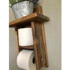 Ahşap Banyo Tuvalet Kağıtlığı Raflı Model