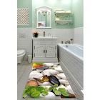 Kesme Yumuşak Yüzey-Kaymaz Taban Yolluk-Banyo Mutfak Halısı-8126