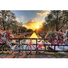 Gold 1000 Parça Kanalda Gün Batımı (Amsterdam) Puzzle
