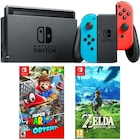 Nintendo Switch Renkli Konsol + Super Mario Odyssey + Zelda