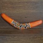 Otantik Ahşap  Bumerang El Yapımı Gerçek Bumerang  40 cm Orta Boy