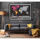 Scratch Map Kazıma Poster Dünya Haritası Bayraklı Büyük Boy