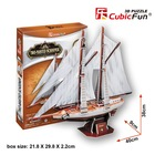 Cubic Fun 3D 81 Parça Puzzle Two-Masted Schooner Yelkenlisi