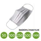 Tek Kullanımlık Nonwoven 3 Katlı Hijyen Maske 50-100-250 Adet