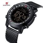 Naviforce NF9130 dijital adımsayar hasır çelik kordon kol saati