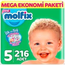 Molfix 3D Bebek Bezi 5 Numara Junior Mega Ekonomi Paketi 216 Adet