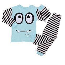 Erkek Bebek Çocuk 2 li Alt Üst Pijama Eşofman Takımı 1/3 Yaş