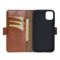 Bouletta Wallet Case-NE Deri Telefon Kılıfı iPhone 11 Taba