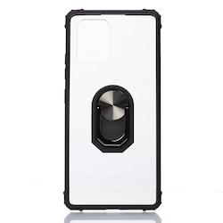 Samsung Galaxy A91 Yüzüklü Standlı Kamera Korumalı Kılıf
