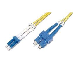 Digitus LC-SC Fiber Optik Patch Kablo, 3 metre, Singlemode, Duple