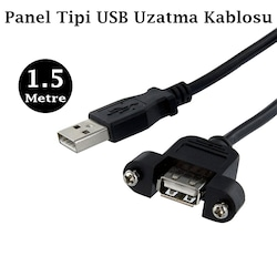 USB 2.0 Panel Tipi Uzatma Kablosu - 1,5 Metre