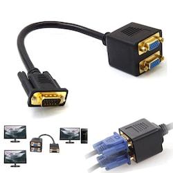 Vga Çoklayıcı Kablo - Y Splitter - 25CM