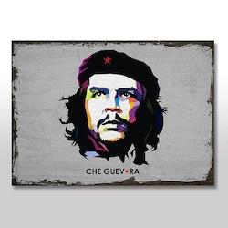 Ahşap Tablo Retro Che Guevara