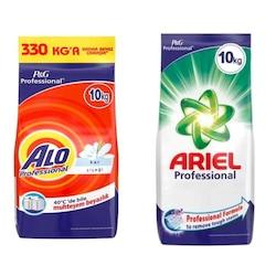 Alo Professional Kar Çiçeği Deterjan 10 KG + Ariel Professional Beyazlar Deterjan 10 KG