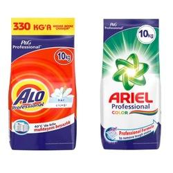 Alo Professional Kar Çiçeği Deterjan 10 KG + Ariel Professional Color Deterjan 10 KG