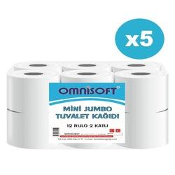 Omnisoft Mini Jumbo Tuvalet Kağıdı 5 x 12 Rulo