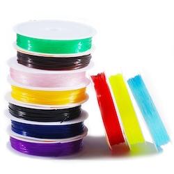 Renkli Esnek Misina Seti 10 Makara 1 mm El İşi Takı CC101