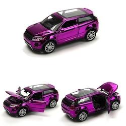 1:32 Sesli Işıklı Range Rover Evoque Model Araba Metalik Mor