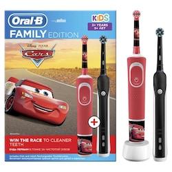 Oral-B D100 Şarj Edilebilir Diş Fırçası Aile Paketi Cars