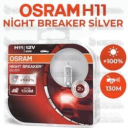 Osram Ampul Set 12V H11 55W %100 Guclu 130M Fazla Mesafe