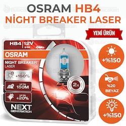 Osram Night Breaker Laser HB4 Ampul 9006NL - %150 Daha Fazla Işık
