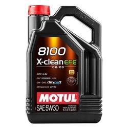 MOTUL Motor Yağı Tam Sentetik 8100 X-Clean Efe (5 Lt) 5W30